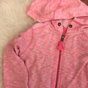 Heathered Neon Pink Zip Up Hoodie